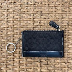 Coach Monogram Key Ring Coin Purse